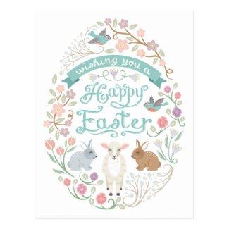 Sweet Woodland Easter Egg Postcard