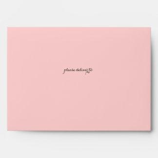 Sweet Woodland Floral Garden Pink Custom Envelope