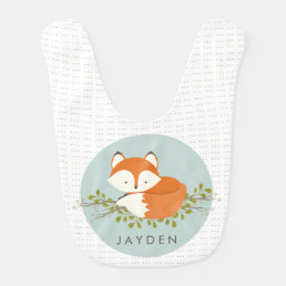 Sweet Woodland Fox Baby Bib