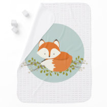 Sweet Woodland Fox Baby Blanket