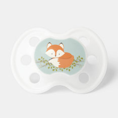Sweet Woodland Fox Baby Pacifier at Zazzle