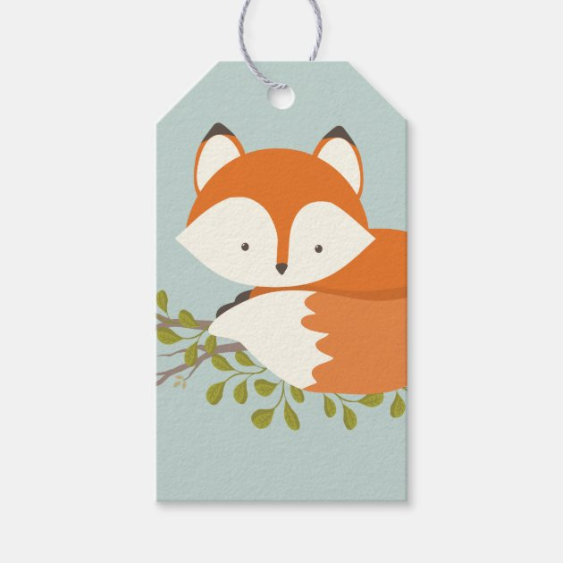 High Quality Sweet Woodland Fox Baby Shower Favor Gift Tag | Zazzle.com