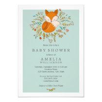 Sweet Woodland Fox Baby Shower Invitation