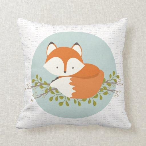 Sweet Woodland Fox Baby Snuggly Pillow   Zazzle