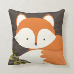 "Sweet Woodland Fox Baby Snuggly Pillow<br><div class=""desc"">A sweet little baby fox is settled down for a long nap on a bed of leaves in this lovely illustration by Kat Parrella.  Perfect for a woodland themed nursery or child&#39;s room.</div>"
