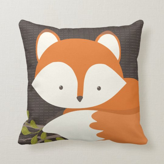 Sweet Woodland Fox Baby Snuggly Pillow | Zazzle.com