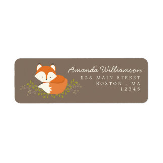 Sweet Woodland Fox Nature Address Label