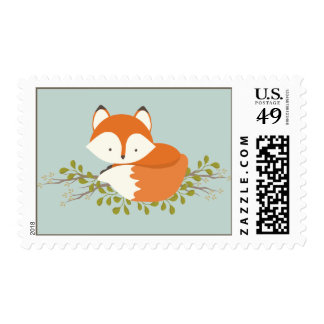 Sweet Woodland Fox Nature Baby Shower Stamp