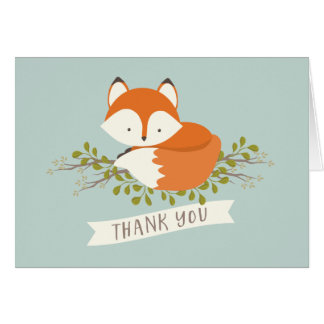 Sweet Woodland Fox Thank You
