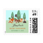 Sweet Woodland Friends Baby Shower Postage Stamps