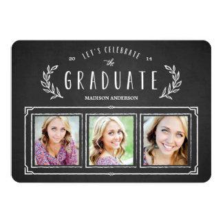 "Sweet Wreath | Graduation Announcement 5"" X 7"" Invitation Card"
