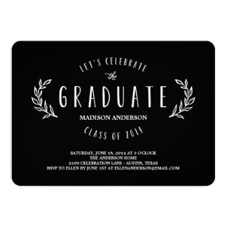 Sweet Wreath   Graduation Invitation