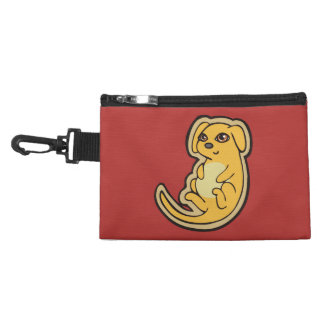 Sweet Yellow And Red Puppy Dog Drawing Design Accessories Bags