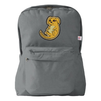 Sweet Yellow And Red Puppy Dog Drawing Design Backpack