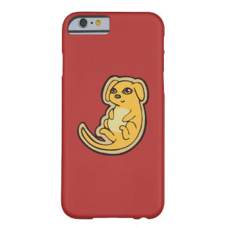 Sweet Yellow And Red Puppy Dog Drawing Design Barely There iPhone 6 Case