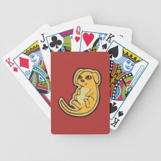 Sweet Yellow And Red Puppy Dog Drawing Design Bicycle Playing Cards