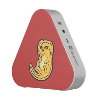 Sweet Yellow And Red Puppy Dog Drawing Design Bluetooth Speaker