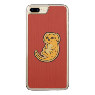 Sweet Yellow And Red Puppy Dog Drawing Design Carved iPhone 7 Plus Case