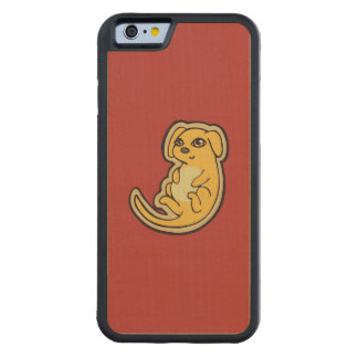 Sweet Yellow And Red Puppy Dog Drawing Design Carved® Maple iPhone 6 Bumper