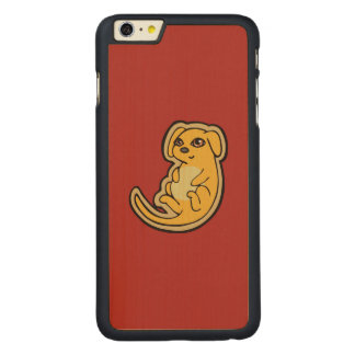 Sweet Yellow And Red Puppy Dog Drawing Design Carved® Maple iPhone 6 Plus Case