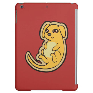 Sweet Yellow And Red Puppy Dog Drawing Design Case For iPad Air
