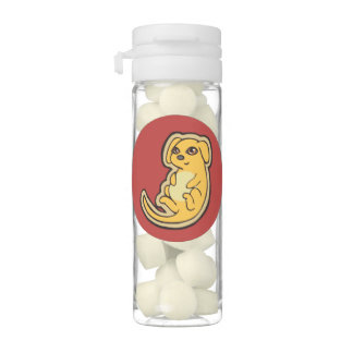 Sweet Yellow And Red Puppy Dog Drawing Design Chewing Gum
