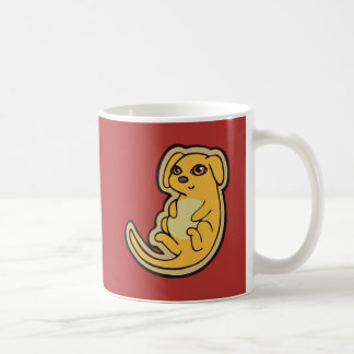 Sweet Yellow And Red Puppy Dog Drawing Design Classic White Coffee Mug
