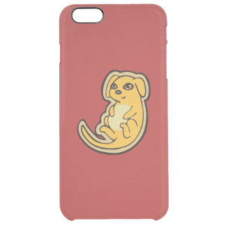Sweet Yellow And Red Puppy Dog Drawing Design Clear iPhone 6 Plus Case