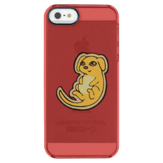 Sweet Yellow And Red Puppy Dog Drawing Design Clear iPhone SE/5/5s Case