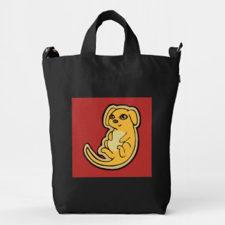 Sweet Yellow And Red Puppy Dog Drawing Design Duck Bag