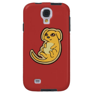 Sweet Yellow And Red Puppy Dog Drawing Design Galaxy S4 Case