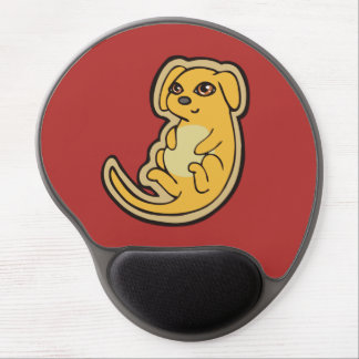 Sweet Yellow And Red Puppy Dog Drawing Design Gel Mouse Pad