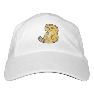 Sweet Yellow And Red Puppy Dog Drawing Design Hat