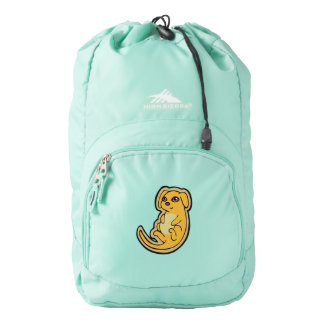 Sweet Yellow And Red Puppy Dog Drawing Design High Sierra Backpack