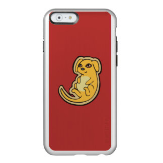 Sweet Yellow And Red Puppy Dog Drawing Design Incipio Feather® Shine iPhone 6 Case