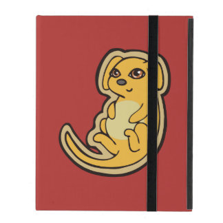 Sweet Yellow And Red Puppy Dog Drawing Design iPad Folio Case