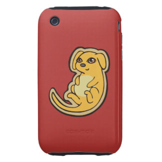 Sweet Yellow And Red Puppy Dog Drawing Design iPhone 3 Tough Cover