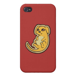 Sweet Yellow And Red Puppy Dog Drawing Design iPhone 4/4S Case
