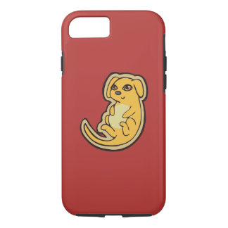 Sweet Yellow And Red Puppy Dog Drawing Design iPhone 7 Case