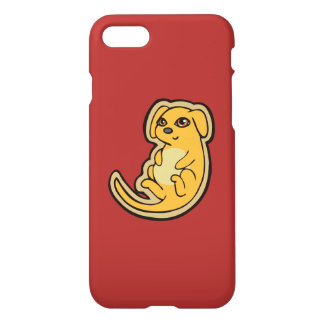 Sweet Yellow And Red Puppy Dog Drawing Design iPhone 8/7 Case