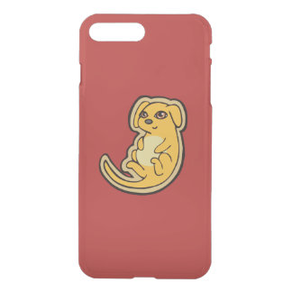 Sweet Yellow And Red Puppy Dog Drawing Design iPhone 8 Plus/7 Plus Case