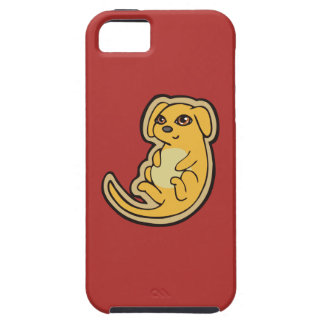 Sweet Yellow And Red Puppy Dog Drawing Design iPhone SE/5/5s Case
