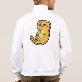 Sweet Yellow And Red Puppy Dog Drawing Design Jacket