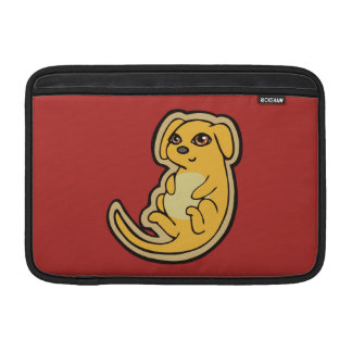 Sweet Yellow And Red Puppy Dog Drawing Design MacBook Air Sleeves