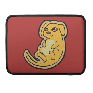 Sweet Yellow And Red Puppy Dog Drawing Design MacBook Pro Sleeve