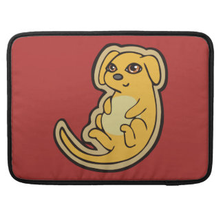 Sweet Yellow And Red Puppy Dog Drawing Design MacBook Pro Sleeves