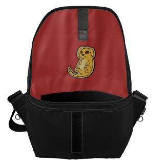 Sweet Yellow And Red Puppy Dog Drawing Design Messenger Bag
