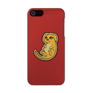 Sweet Yellow And Red Puppy Dog Drawing Design Metallic iPhone SE/5/5s Case