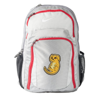 Sweet Yellow And Red Puppy Dog Drawing Design Nike Backpack