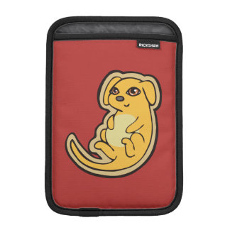 Sweet Yellow And Red Puppy Dog Drawing Design Sleeve For iPad Mini